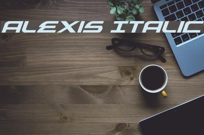 Alexis Italic Font examples