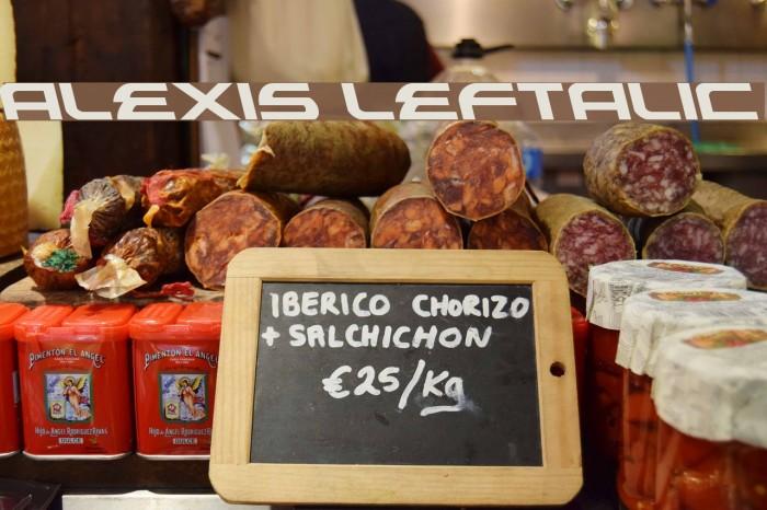 Alexis Leftalic Font examples