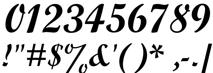 Alfaowner Script Bold Italic Fonte OUTROS PERSONAGENS