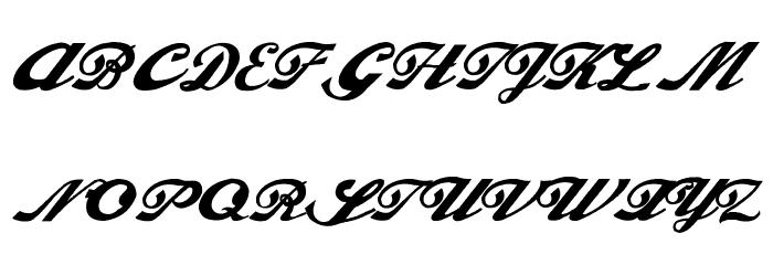 Alfaowner Script Bold Italic Fonte MAIÚSCULAS
