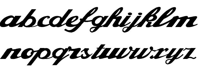 Alfaowner Script Bold Italic Fonte MINÚSCULAS