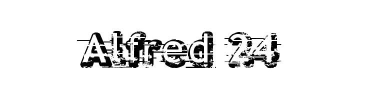 Alfred 24  नि: शुल्क फ़ॉन्ट्स डाउनलोड