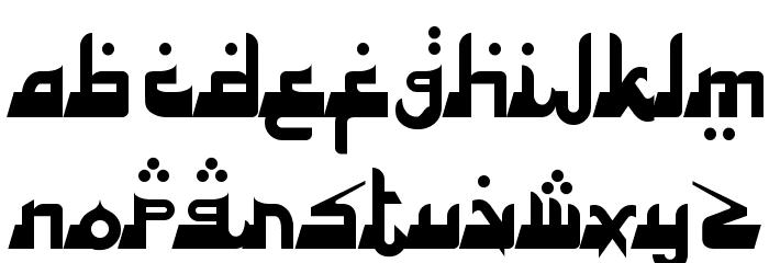 Alhambra Deep Font UPPERCASE