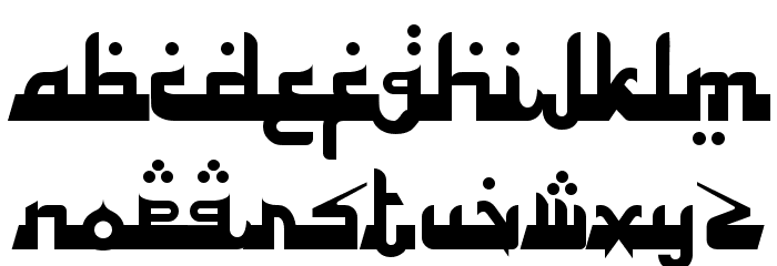 Alhambra Deep Font LOWERCASE