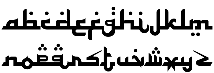 Alhambra Font LOWERCASE