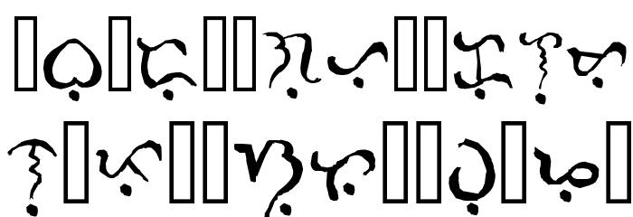 Alibata  Italic Font UPPERCASE