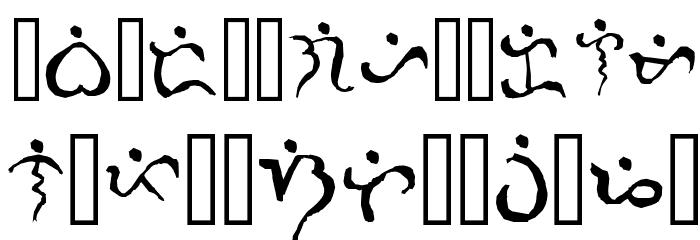 Alibata  Italic Font LOWERCASE