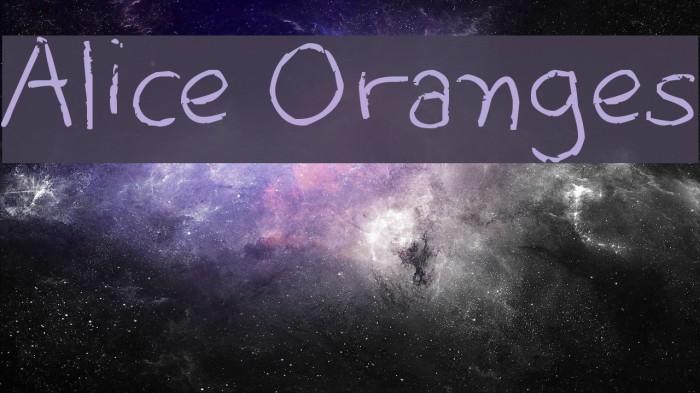 Alice Oranges Font examples