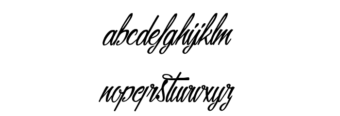 Alicia on the enchanted Highlands Font LOWERCASE
