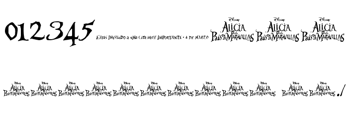 AliciaWonderland Font OTHER CHARS