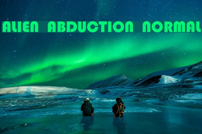 Alien Abduction Normal फ़ॉन्ट examples