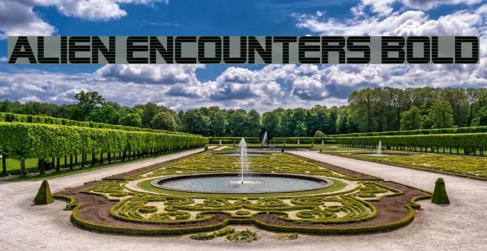 Alien Encounters Bold Fonte examples