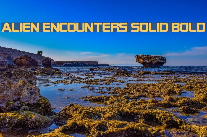 Alien Encounters Solid Bold Font examples