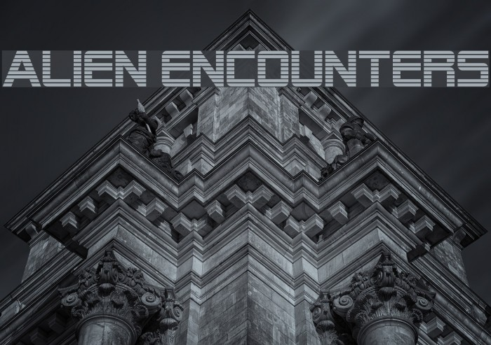 Alien Encounters Fonte examples