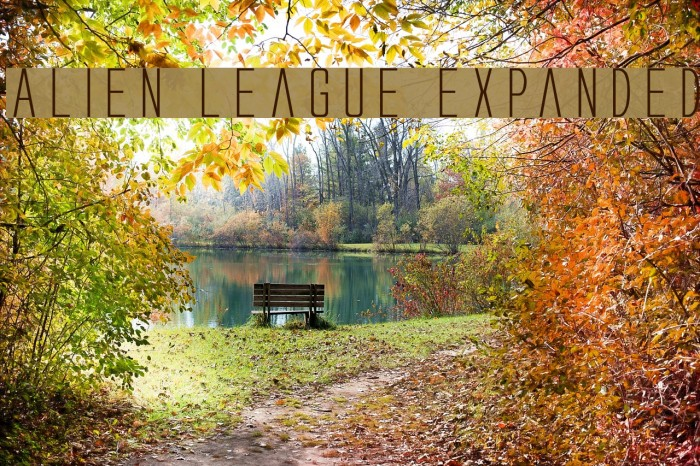 Alien League Expanded Fonte examples
