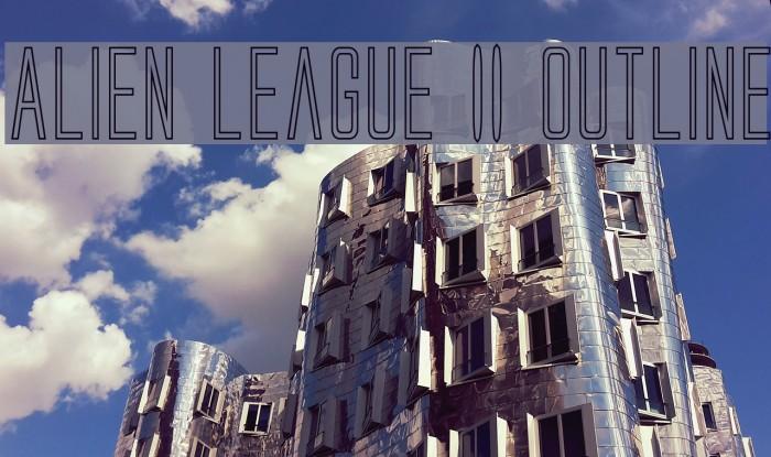 Alien League II Outline Fonte examples