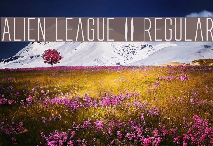 Alien League II Regular Fonte examples