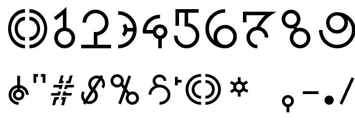 Alien Sans Latin basic Font OTHER CHARS