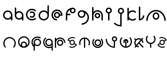 Alien Sans Latin basic フォント 小文字