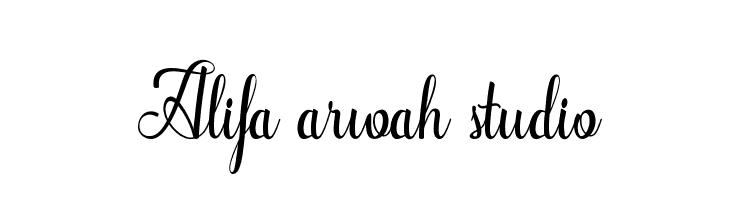 Alifa arwah studio  नि: शुल्क फ़ॉन्ट्स डाउनलोड