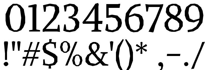 Alike Angular Font OTHER CHARS