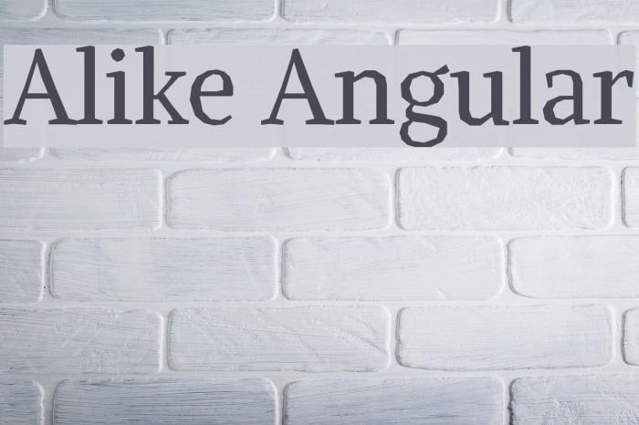 Alike Angular Font examples
