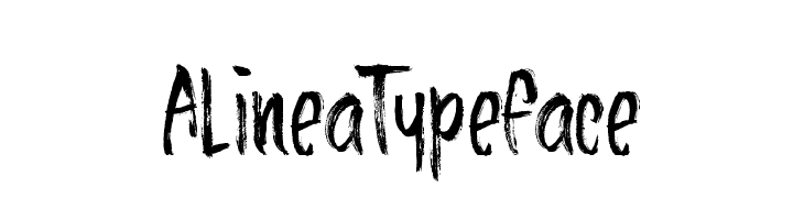 AlineaTypeface Schriftart