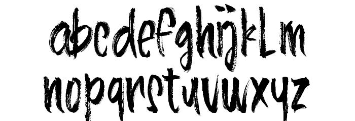 AlineaTypeface Schriftart Kleinbuchstaben