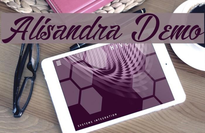 Alisandra Demo Font examples