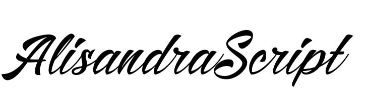 AlisandraScript  Free Fonts Download