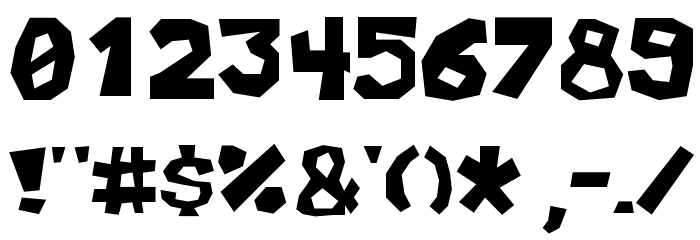 Allegro Cartoon Font OTHER CHARS