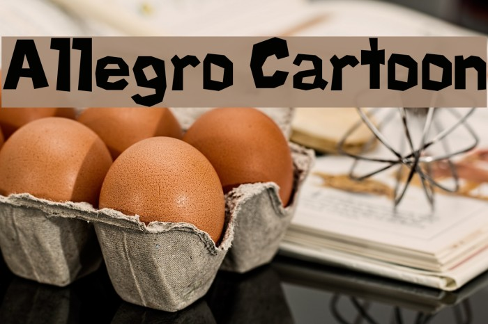 Allegro Cartoon Font examples