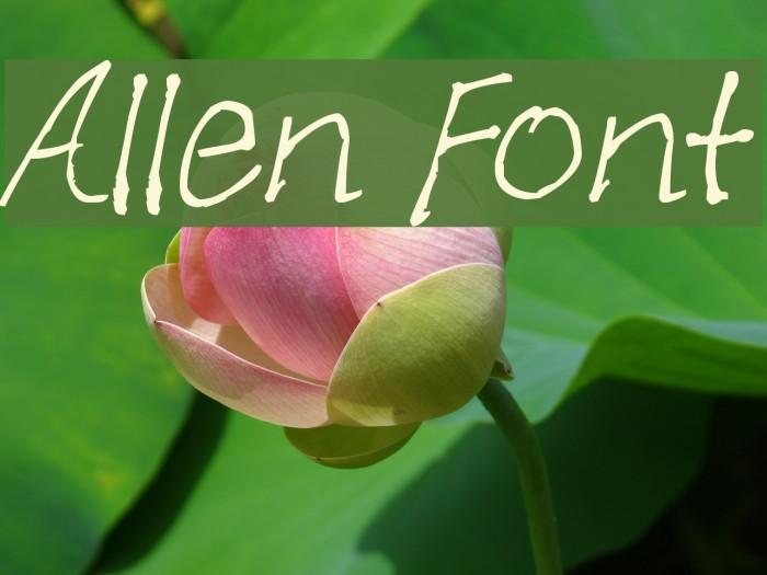 Allen Font examples