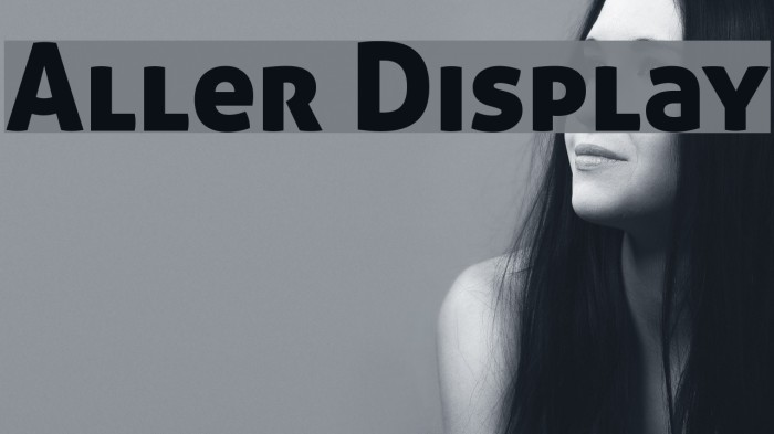 Aller Display Font examples
