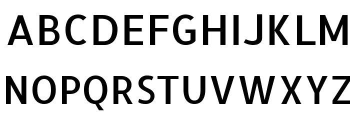 Allerta Medium Font UPPERCASE