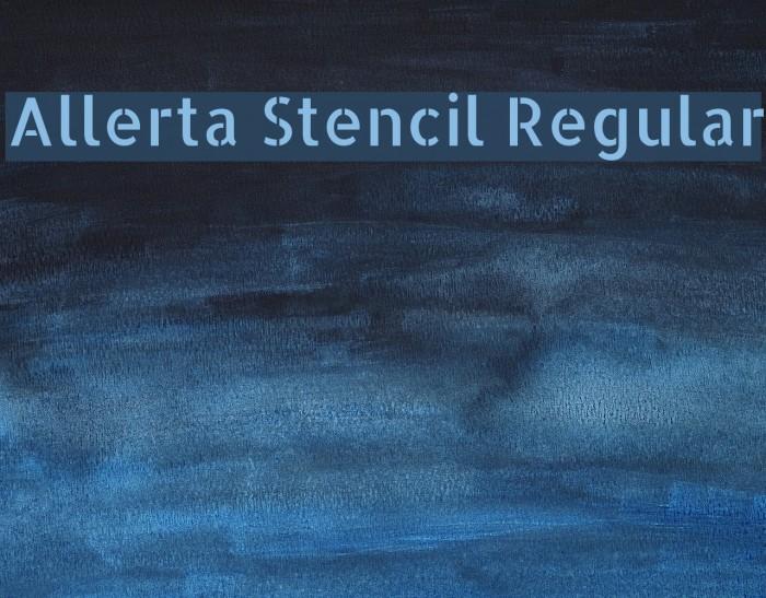 Allerta Stencil Regular Font examples