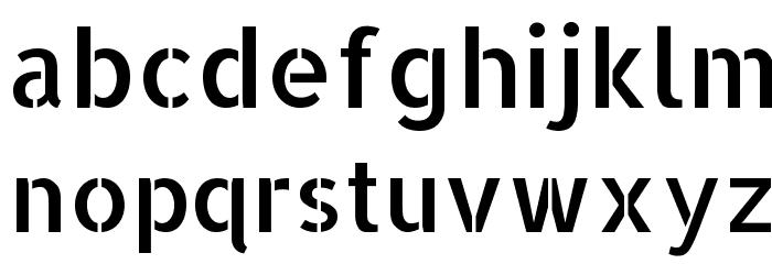 Allerta Stencil Regular Font LOWERCASE