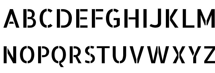 Allerta Stencil Font UPPERCASE