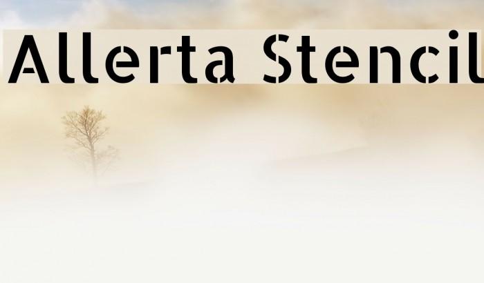 Allerta Stencil Font examples