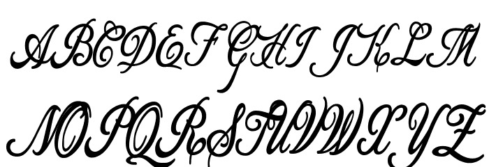 Allicia Personal Use   Cursive Font UPPERCASE