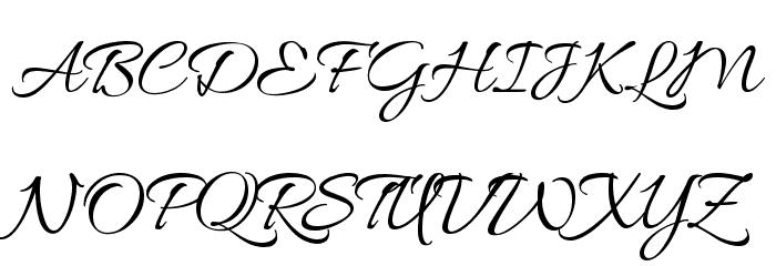 Allura Font UPPERCASE