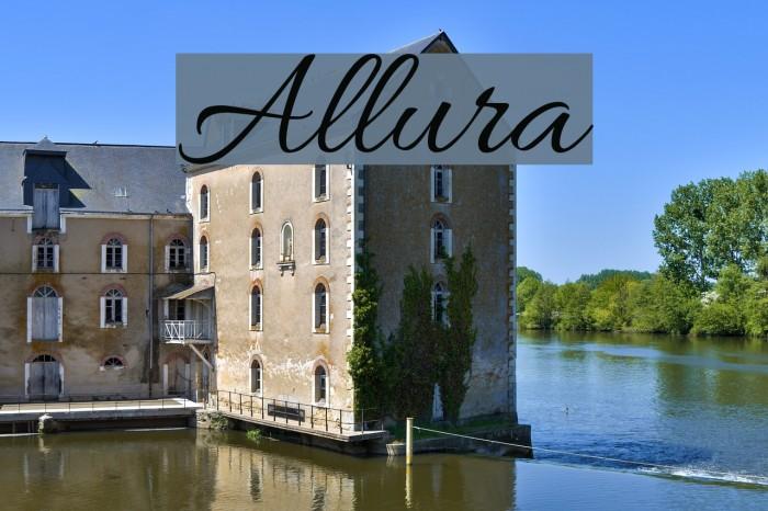 Allura Font examples