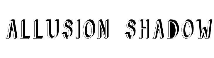 Allusion Shadow  Descarca Fonturi Gratis