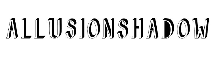 AllusionShadow  Скачать бесплатные шрифты