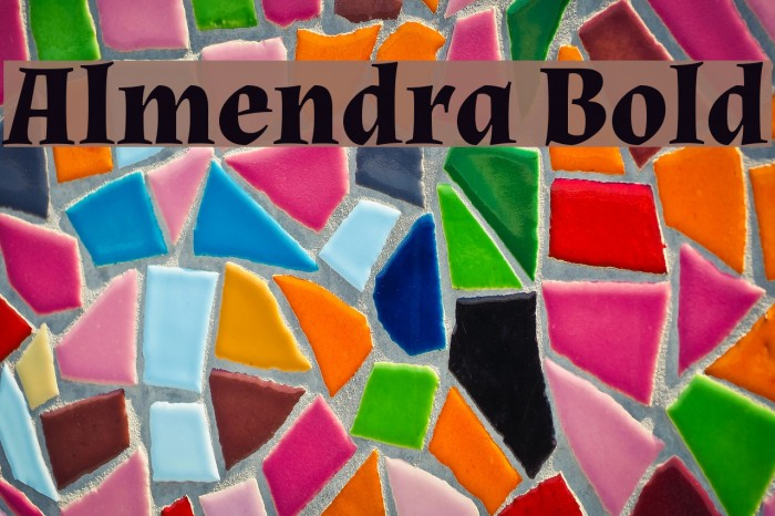 Almendra Bold Font examples