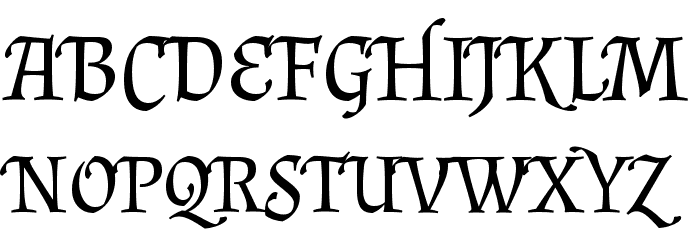 Almendra SC Regular Font UPPERCASE