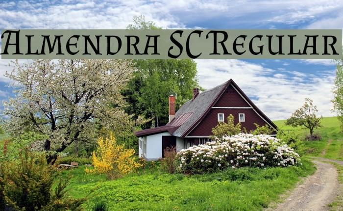 Almendra SC Regular Font examples