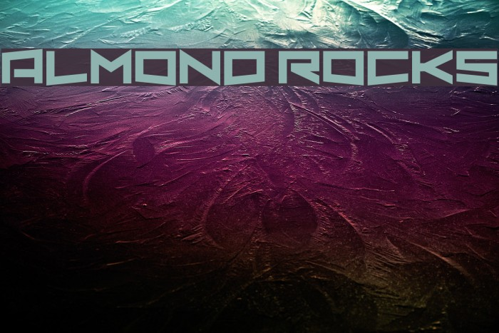 Almond Rocks Fonte examples