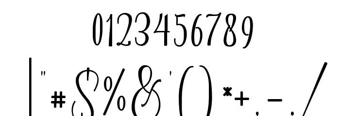 Almonds Шрифта ДРУГИЕ символов