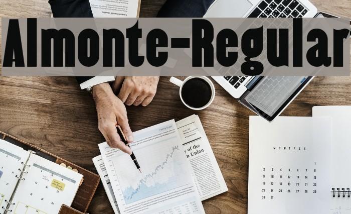 Almonte-Regular Шрифта examples